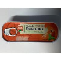 Makrelefilet mit Tomaten und Basilic 85 g. BF 12 stk pro Karton