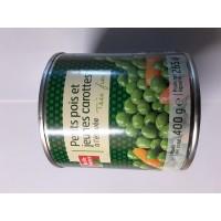 Erbsen mit Karotten extrafein 400 g. BF 17 stk. pro Karton